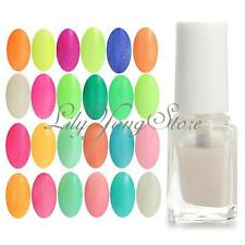 1Pcs Fluorescent Glow in Dark Neon Nail Art Polish Lacquer Varnish Multi Colors