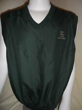 New! JOHN DEERE Tractor Mens Green Embroidered Vest