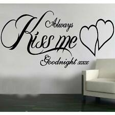 Always Kiss me Goodnight Sticker Wall transfer  bedroom design AFC55