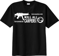 T-SHIRT personalize CALL OF DUTY KILL ALL CAMPERS with your name or fps mmo clan