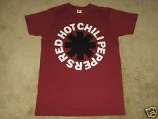 Red Hot Chili Peppers Black Asterisk S, M, L, XL, 2XL Red T-Shirt