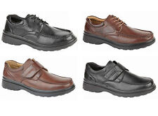New Mens Comfort Fit Light Weight Formal Casual Velcro Lace Up Shoes