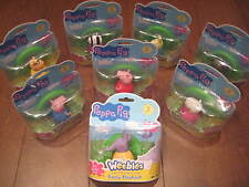 Peppa Pig Weebles Character Figures - 8 to collect - NEW BNIP!