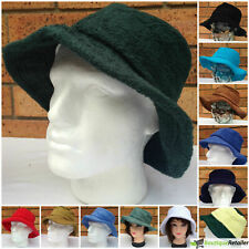 Terry Towelling BUCKET HAT Daggy Fishing Camping Cap Retro New 100% COTTON