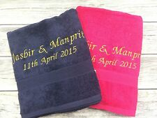 NEW PERSONALISED EMBROIDERED SPECIAL CELEBRATION TOWEL - EGYPTIAN COTTON 500gsm