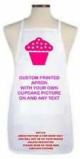 CUPCAKE APRON USING YOUR OWN CUPCAKE PIC PERSONALISED FREE 3 SIZES