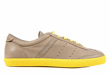 MONCLER MEN'S SHOES LEATHER TRAINERS SNEAKERS NEW BIARRITZ YELLOW  6DA