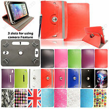"Universal 7"" Inch PU Leather Stand Case Cover For Various Android Tablets+Stylus"