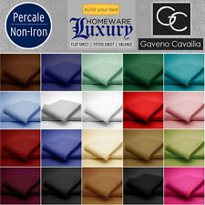 180 TC FITTED,FLAT,VALANCE FITTED SHEET & PILLOWCASE PERCALE NON IRON