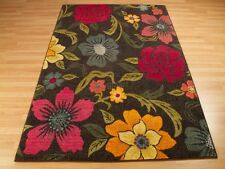 Multi Colour Funky Kaleidoscope 563B Modern Floral Rug Carpet M-L Size 40%OFF