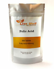Folic Acid Tablets, 400mcg, (folacin, vitamin B-9)
