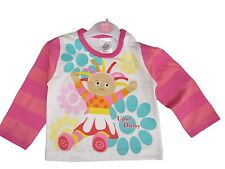 NEW BABY GIRLS UPSY DAISY LSLEEVED T-SHIRT 6-12 12-18 18-23 MTH PINK 100% COTTON