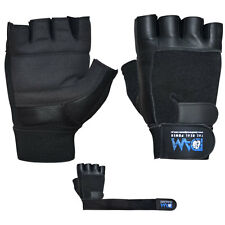 DAM NEW GYM WEIGHT LIFTING GLOVES BODY BUILDING GYM EXERCISE REAL LEATHER S-M-L