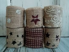 Country Burlap Decorative Ribbon - Cottage Shabby Home Decor / Crafting