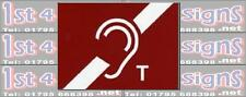 Hearing aid Sign  Health & Safety Signs High Quality Interior & Exterior