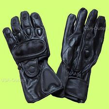 MOTORCYCLE LEATHER RACING GLOVES VENTED CARBON FIBER PROTECTIVE RIDING - UK1J