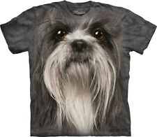 Big Face Shih Tzu T-Shirt by The Mountain. Giant Dog Head Tees S-3XL NEW