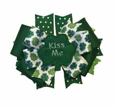 Kiss Me St. Patrick's Day Feltie Boutique Hair Bow