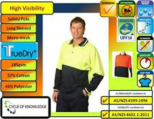 SW11 TrueDry High Visibility Safety Workwear; Long Sleeve Polo Shirt; 57% Cotton