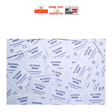 10 - 200 STERILE ANTISEPTIC SWABS WIPES 70% FIRST-AID MULTIAUCTION HUGE CHOICE