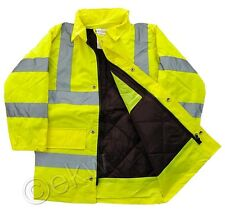 Childrens Kids Hi Vis Waterproof PARKAS Jackets High Hi-Viz Safety Clothing