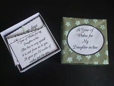 1 Year of Thoughts & Wishes for My Daughter-in-law* ~Birthday gift