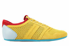 DOLCE&GABBANA MEN'S SHOES SUEDE TRAINERS SNEAKERS NEW SPORT RETE YELLOW  815
