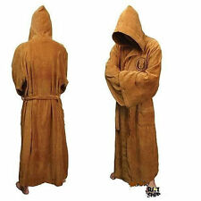 Star Wars Jedi Knight Costume Hooded Toweling Bath Robe velour Size S/M/L
