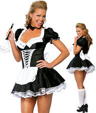 SEXY FRENCH MAID Ladies Women Costume Outfit FancyDress HALLOWEEN PARTY