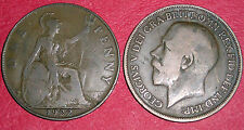 PENNY GEORGE V  1911-1936 DATE OF YOUR CHOICE ONLY £1.15 EACH FREE UK P&P