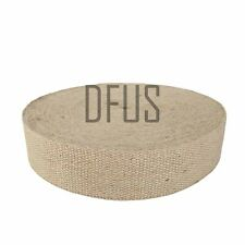 "NATURAL JUTE HESSIAN BURLAP SEATING UPHOLSTERY & FURNITURE CHAIR WEBBING 2""."