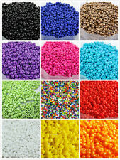 Czech 2000pcs 25g 2mm Round Opaque Lot Colorful Glass Seed Beads Jewelry Making