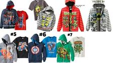 *NEW BOYS Superman Spongebob Spiderman Captain America TURTLE Hoodie & Shirt Set