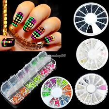 3D Nail Art Rhinestones Pearl Studs Rivet Glitters Tips Decoration Manicure C1MY