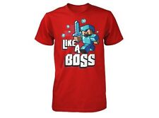 OFFICIAL LICENSED MINECRAFT LIKE A BOSS YOUTH T SHIRT SIZES SM-XL
