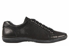 PRADA WOMEN'S SHOES LEATHER TRAINERS SNEAKERS NEW AVIATOR BLACK  A1E