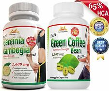 PURE GARCINA CAMBOGIA 65% HCA+GREEN COFFEE BEAN 50% CGA/Weight Loss