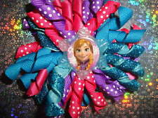 TODDLER & GIRLS FROZEN ANNA ELSA OLAF KORKER HAIR BOW