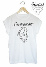 Follow the white rabbit!alice in wonderland tee urban outfitters topman grunge