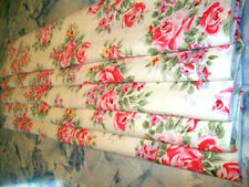 unlined ROMAN BLIND made in CATH KIDSTON ENGLISH ROSE WHITE MTM up to 140cm wide