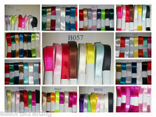 Pack of 8 Assorted Colours Satin Ribbon Bundles Choice of 3mm 6mm 10mm or 12mm