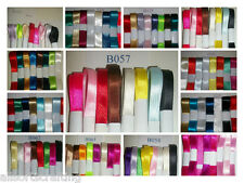 Pack of 8 Assorted Colours Satin Ribbon Bundles Choice of 3mm up to 25mm