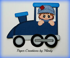 Train Kids Boy premade paper piecing for scrapbooks pages embellishment