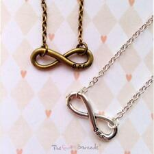 QUIRKY INFINITY BEST FRIENDS FOREVER NECKLACE FUNKY RETRO SILVER LOVE GIFT BFF