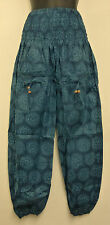 * Fair Trade * Hippy Boho Indian Made Henna Print Cotton Trousers