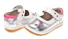 NEW Girls Silver Mary Jane Shoe. Little Blue Lamb. Squeaky. Sizes 3-7