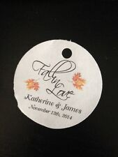 PERSONALIZED Round Wedding Favor Thank You Gift Tags Fall In Love 2 Buy 2 Get 1