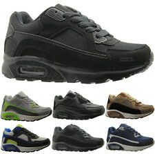 BOYS BLACK GLENSDALE SCHOOL KIDS SKATE BOOTS TRAINERS GIRLS SCHOOL SHOES SIZES