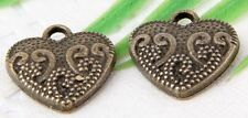 Wholesale 22/55Pcs Bronze Plated (Lead-Free)Heart Charms Pendant 17x15mm