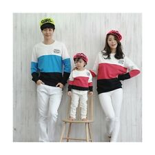 Family Cotton Clothes Dad Mom Baby 3Pcs Fall Long Sleeve Striped T-shirt